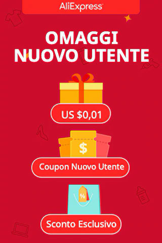 Aliexpress - Registrati subito!  Sconto + Coupon