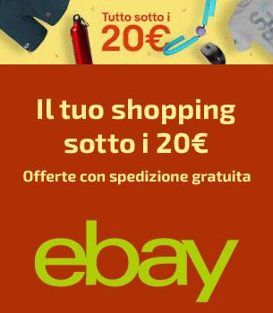 eBay - il tuo shopping sotto i 20 euro
